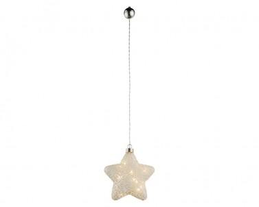 Závěsná vánoční hvězda LED WEIHNACHTSENGEL Globo 23234