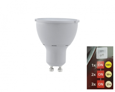LED žárovka přepínatelná 5W GU10 11542 Eglo č.1
