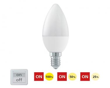 LED žárovka přepínatelná 6W E14 11582 Eglo č.1