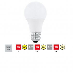 LED žárovka přepínatelná 10W E27 11562 Eglo č.1