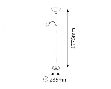 Stojací lampa Rabalux Diana 4059 lesklý chrom č.2