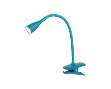 Skřipcová lampička Rabalux Jeff 4195 modrá