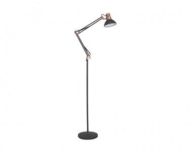Stojací lampa Rabalux Gareth 4523 černá / měděná