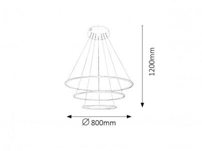 LED stropní svítidlo Rabalux Donatella 2545 bílá č.2