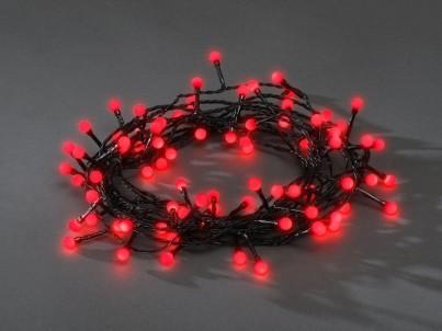 LED vánoční řetěz Exihand kuličky červená 3691557