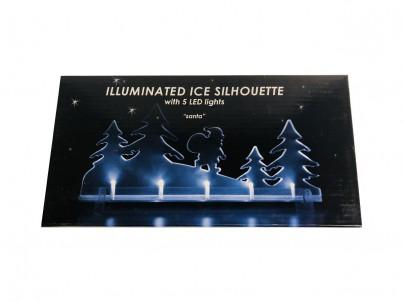 LED vánoční dekorace FDL Illuminated Ice Silhouette Santa 22180 č.1