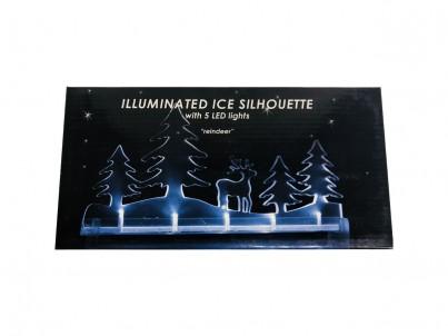 LED vánoční dekorace FDL Illuminated Ice Silhouette Reindeer 22181