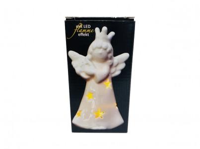 Vánoční dekorace LED FDL flame effect Angel porcelán 12150 č.1