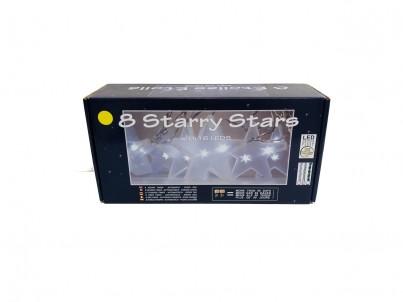 LED světelný řetěz FDL 8 Starry Stars hvězdy 40260 2m teplá bílá