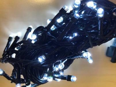 Napojovací LED světelný řetěz  FDL 100 Microleds studená bílá 37591