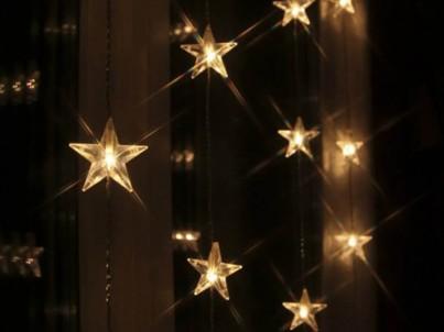 LED světelná záclona s motivy hvězdiček Nipeko Star trading 2006-71