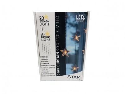 LED světelná záclona s motivy hvězdiček Nipeko Star trading 2006-71 č.2