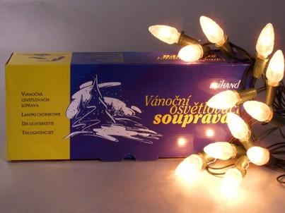 Vánoční vnitřní klasická souprava Exihand 162117 Šiška limba bílá 12 žárovek 12V/0,1A
