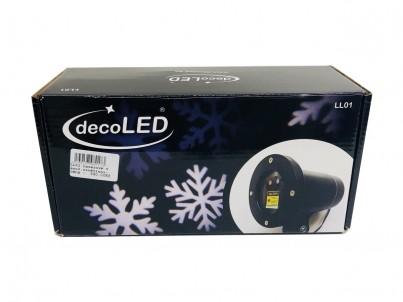 Vánoční dekorace laserové vločky decoLED LL01 ledově bílá