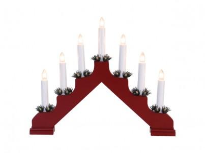 Vánoční svícen Nipeko Ada 7 svíček červená 286-15