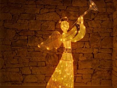 LED světelný anděl decoLED 3DA1W teple bílá