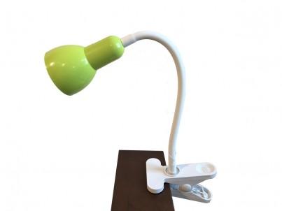 LED skřipcová stolní lampička Nipeko HC002 zelená