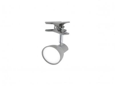 LED skřipcová stolní lampička Nipeko HC001 šedá