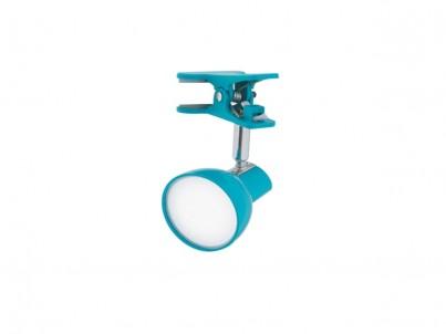 LED skřipcová stolní lampička Nipeko HC001 modrá