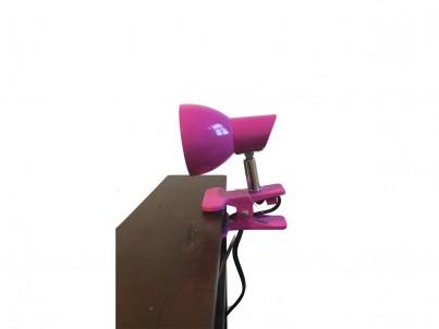 LED skřipcová stolní lampička Nipeko HC001 růžová