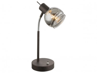 LED stolní lampička Globo Isla 54347-1T bronzová