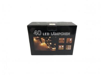 LED vánoční řetěz FDL 40LED černý kabel 37600