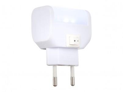 LED noční lampička do zásuvky Globo Chaser 31908 bílá