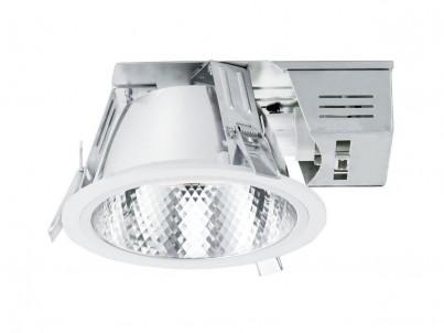 Zápustné svítidlo Eglo Xara 89086 bílá a chrom průměr 185 mm