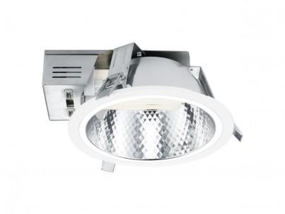 Zápustné svítidlo Eglo Xara 89088 bílá a chrom průměr 220 mm