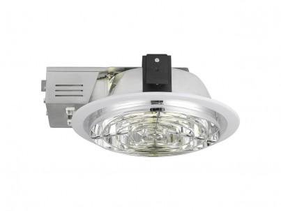 Zápustné svítidlo Eglo Xara4 89106 bílá a chrom průměr 235 mm č.1