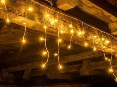 Vánoční světelná záclona decoLED LWI25W teplá bílá 2x0,5m