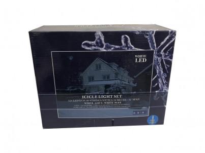 Světelná záclona FDL Icicle light set 47833 320 LED modrá