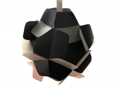 Závěsné svítidlo Kafti Berga černá a bílá