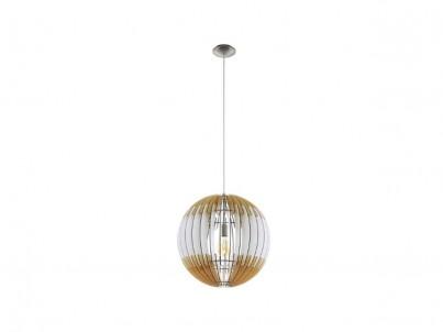 Závěsné stropní svítidlo Eglo Olmero 1 32846 50 cm hnědá, bílá č.1