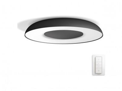 LED stropní svítidlo Philips Still Hue 32613/30/P7 černá, stmívatelné