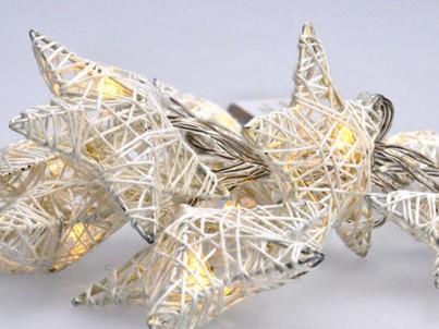 LED vánoční řetěz hvězdy proplétané Solight 1V203 bílé č.3