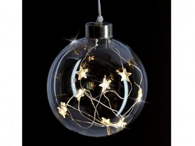 LED vánoční skleněná koule Solight 1V204 čirá č.2