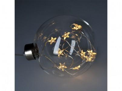 LED vánoční skleněná koule Solight 1V204 čirá č.3