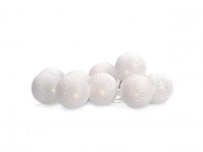 LED řetěz bavlněné koule Solight 1V201 bílá