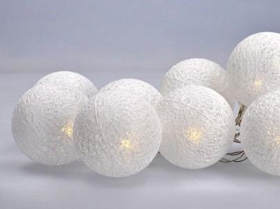 LED řetěz bavlněné koule Solight 1V201 bílá č.2
