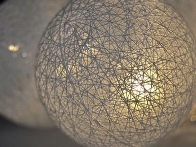 LED řetěz bavlněné koule Solight 1V201 bílá č.3