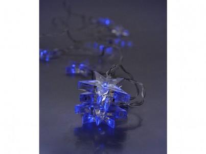 LED vánoční řetěz hvězdy Solight 1V52-B modré světlo č.4