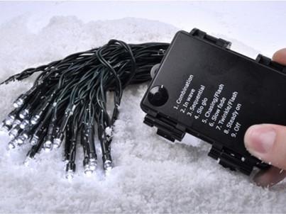 LED venkovní řetěz 50 LED Solight 1V53-WW 8 funkcí, teplá bílá č.1