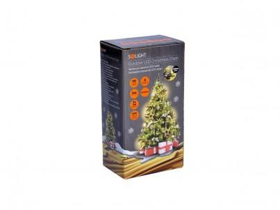 LED venkovní řetěz 50 LED Solight 1V53-WW 8 funkcí, teplá bílá č.2