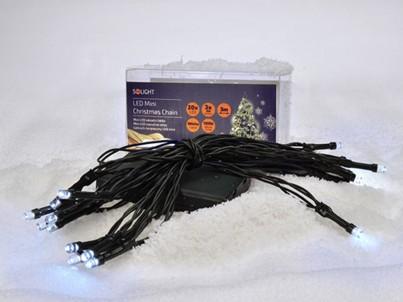 LED vánoční řetěz Solight 1V50-W 20 LED bílé světlo č.3