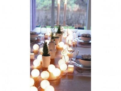 LED vánoční koule bavlněné Solight 1V48 20 LED bílá č.3