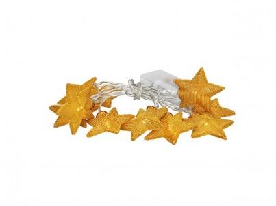 LED řetěz vánoční hvězdy Solight 1V212 zlatá, 20 LED č.1