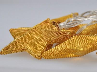 LED řetěz vánoční hvězdy Solight 1V212 zlatá, 20 LED č.2