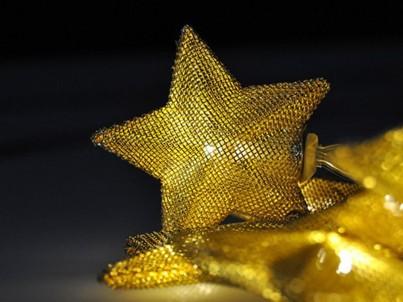 LED řetěz vánoční hvězdy Solight 1V212 zlatá, 20 LED č.3