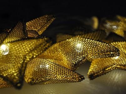 LED řetěz vánoční hvězdy Solight 1V212 zlatá, 20 LED č.4